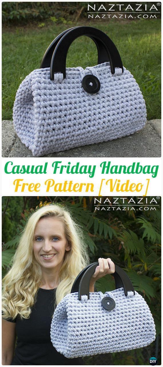 Crochet Casual Friday Handbag Free Pattern - #Crochet Handbag Free Patterns