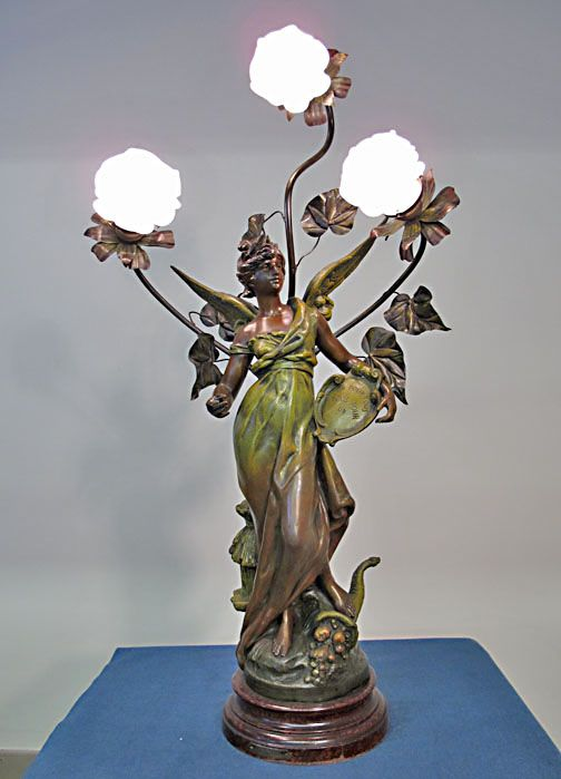 1000 Images About Spelter Lamps On Pinterest Vintage