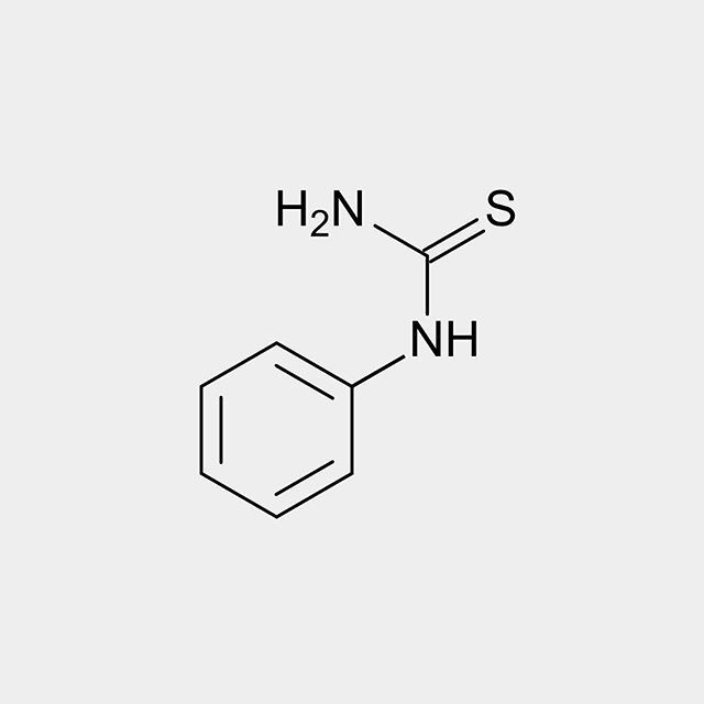 #Phenylthiocarbamide (#PTC) also known as phenylthiourea (PTU) is an organosulfur #thiourea containing a #phenyl ring.  It has the unusual property that it either #tastes very #bitter or is virtually #tasteless depending on the genetic makeup of the taster. The ability to taste PTC is often treated as a dominant #genetic trait although inheritance and #expression of this trait are somewhat more complex.  PTC also inhibits #melanogenesis and is used to grow transparent #fish.  About 70% of…