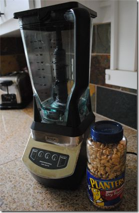 Make your own peanut butter in 3 minutes. We added some coconut oil and honey. Fast, easy, and cost $1.75 for a pound of completely natural PB!