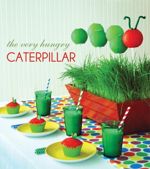 Very Hungry Caterpillar Tablesetting  Very Hungry Caterpillar Centerpiece
