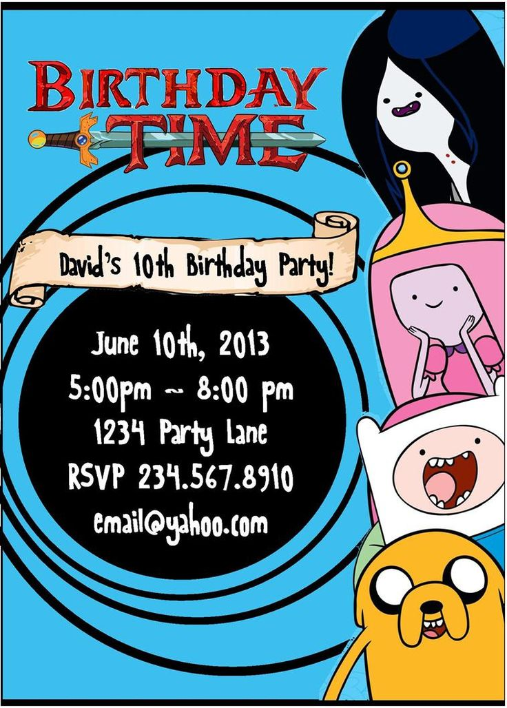 40 best maddies adventure time party images on Pinterest ...