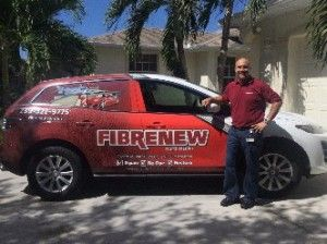 Michael Carrigan, franchisee of Fibrenew North Naples and  his Fibrenew vehicle.