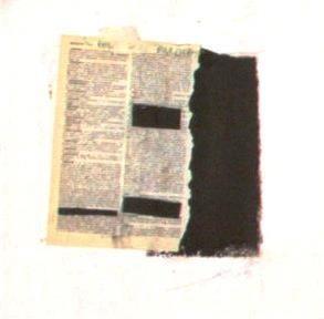 Lino Ricco arte: [ Lettera / tecnica mista su tela cm 30 x 30