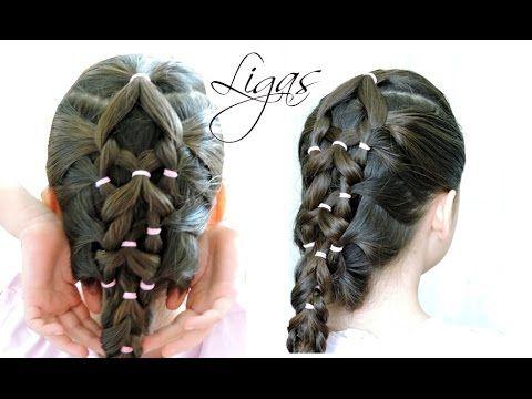 VIDEO Paso a paso de  ligas. Puedes usar el color que desees y dura varios dias. VIDEO tutorial - Elastics hairdo Ideal for School. Lasts several days made by www.2superdivas.com