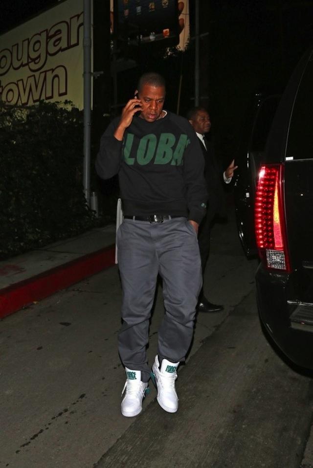 Jay Z Wearing Nike Air Force 180 Mid Jay Z Streetwear
