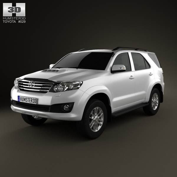 Toyota Fortuner 2012 3d model from humster3d.com. Price: $75