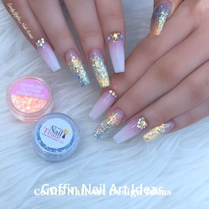 20 Trendy Coffin Nail Art Designs #nailideas #coffinnails