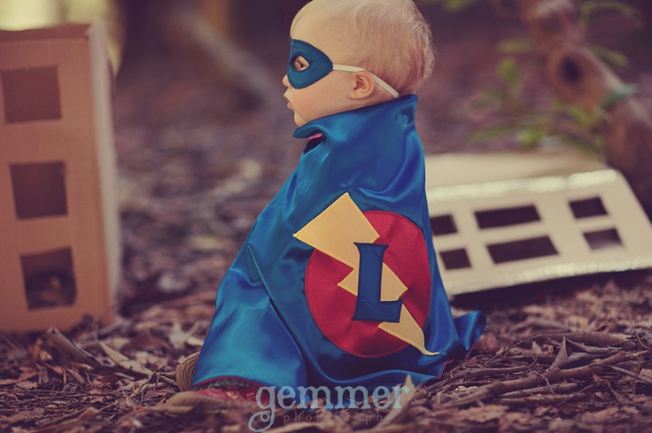 Superhero cape Super Hero Cape Custom Personalized Toddler Baby Cape Mask Cuff Set Photo shoot costume. $73.00, via Etsy.