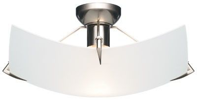 Beacon Lighting - Astro II 30cm do-it-yourself square fitting in brushed chrome with frost glass