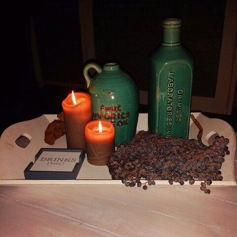 #decoration #candle #bottles