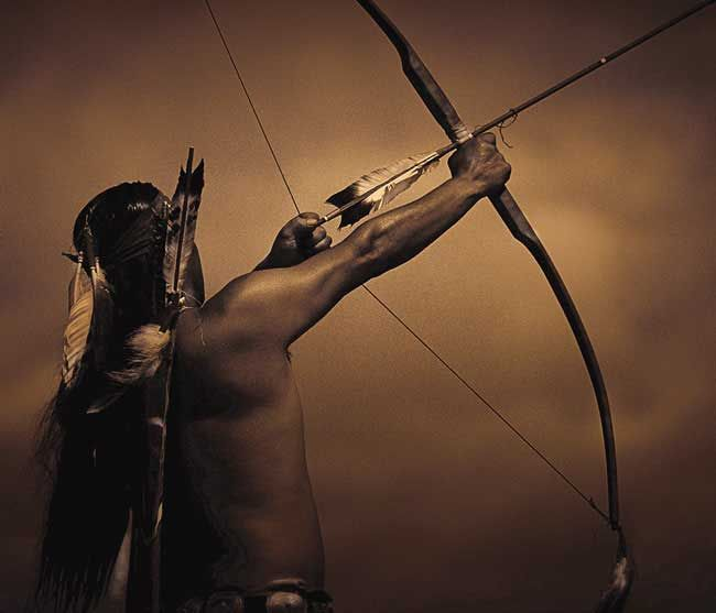 Indian Bow Hunting | Back > Gallery For > Native American Arrow Drawings