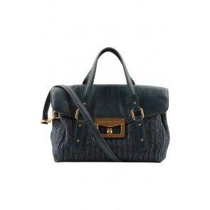 Marc Jacobs Navy Tweed Sling Bag