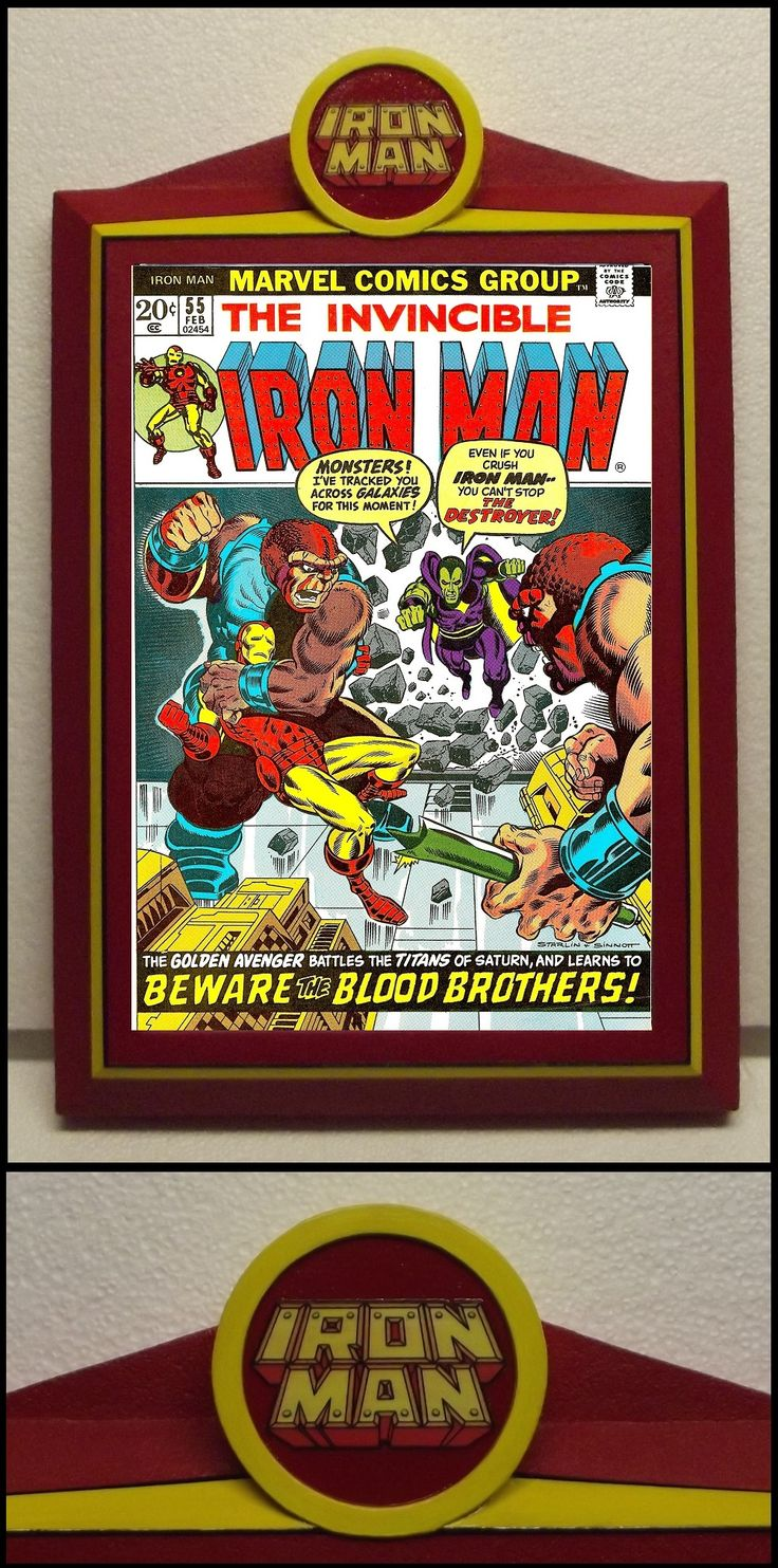 custom iron man comic book frame