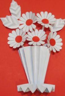 Объемная аппликация цветы. | ИЗ БУМАГИ СВОИМИ РУКАМИ