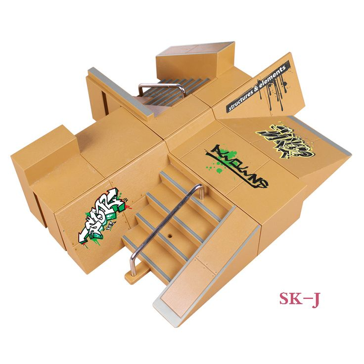 SK-J 8 Pcs Multi-style Combination Finger Skateboard Park Ramp & Fingerboard Parts for Tech Deck & Finger Board Stage Property