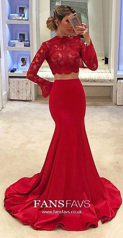 89051392d35 Two Piece Prom Dresses Long