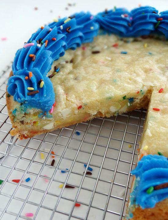 Funfetti Cake Batter White Chocolate Chip Cookie Cake