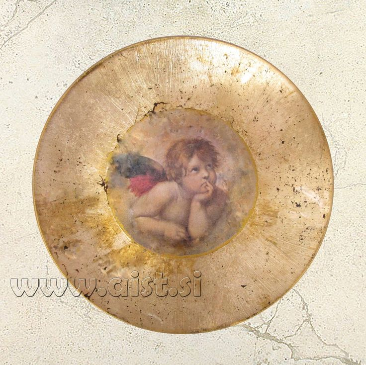 Decoupage and Gilding. How to make old plate. Decoupage tutorial - DIY.