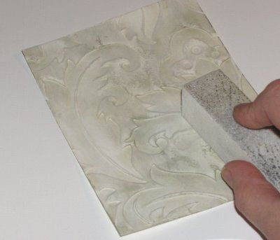 Gesso-Swiping Dry Embossing