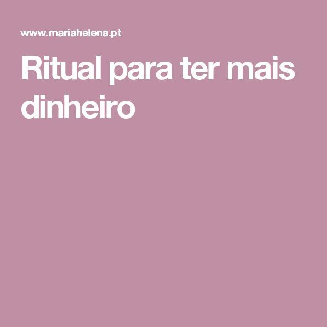 Ritual para ter mais dinheiro