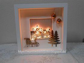 Sala de artesanato de Marita: Moldura Ribba com instruções para as luzes   – Weihnachten