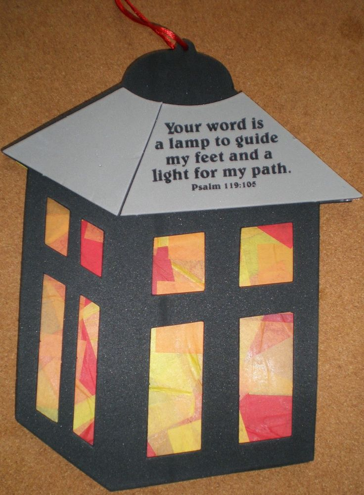 crafts for psalm 119:105 - Google Search                                                                                                                                                      More