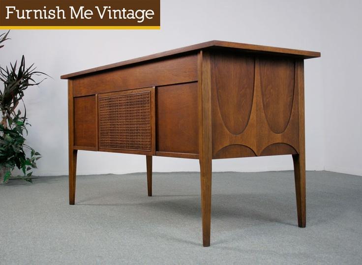 Refinished Mid Century Modern Broyhill Brasilia Desk | Furnish Me Vintage