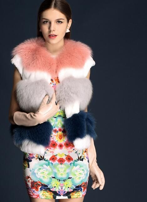 fox fur vest ,$360. for retail .If wholesale ,please contact me.Four colors in one vest
