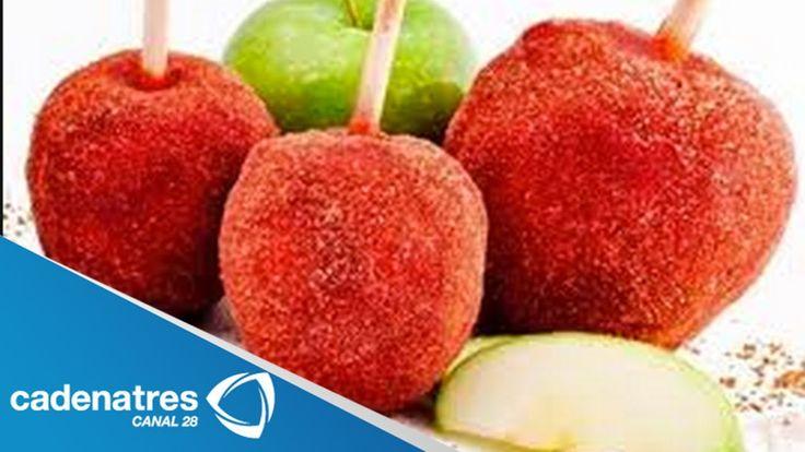 Receta para preparar manzanas cubiertas de chamoy. Cocinando con Yovanka...