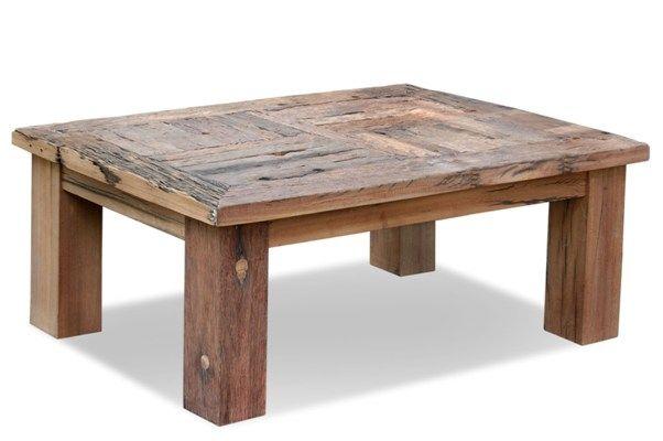 Mesa de centro durmientes rustica muebles y decoracion for Muebles contemporaneos chile