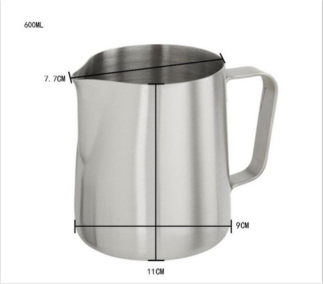 1000ml Japanese-style Frothing Pitcher Milk Tea Cappuccino Coffee Pull Flower Cup Thicken Stainless Steel Milk Frothers Mugs