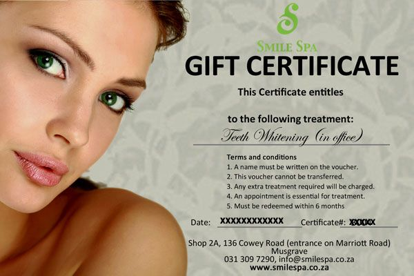 Can't find the perfect gift this Christmas! Give a Smile Spa Gift Certificate. Whether its teeth Whitening, An electric toothbrush, Botox, dermal fillers or just a scaling and polishing, a gift certificate is an easy and reliable Christmas Gift. The Christmas the Fire and Ice Facial has become a very popular option.