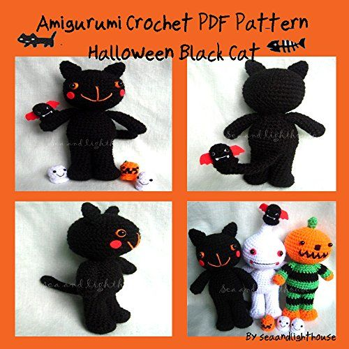 Halloween Black cat - Amigurumi Crochet PDF Pattern