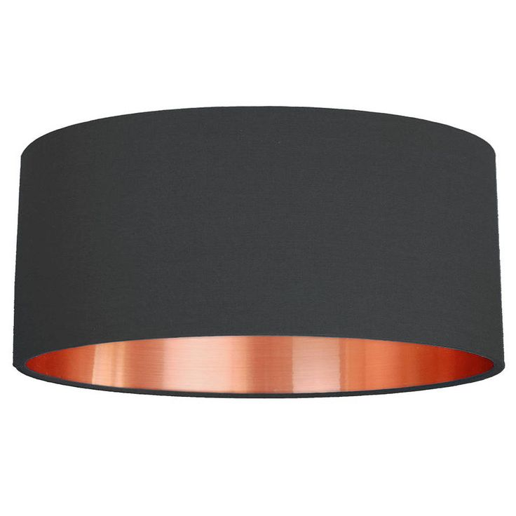 £70 Large Brushed Copper Lined Lamp Shade Choice Of Colours