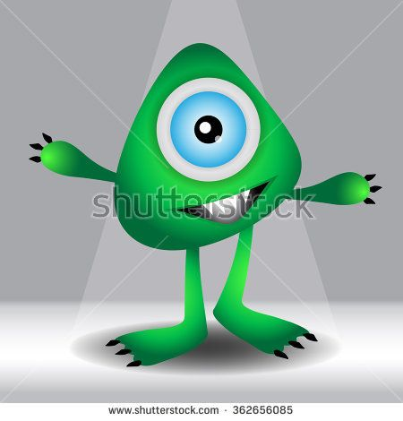green Monster Cartoon vector illustration,vector icon,cartoon design