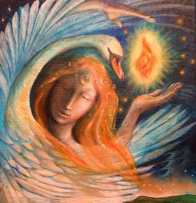 Bringing the Imbolc Fire by Wendy Andrew