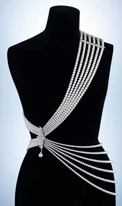 Beautiful pearl body drape