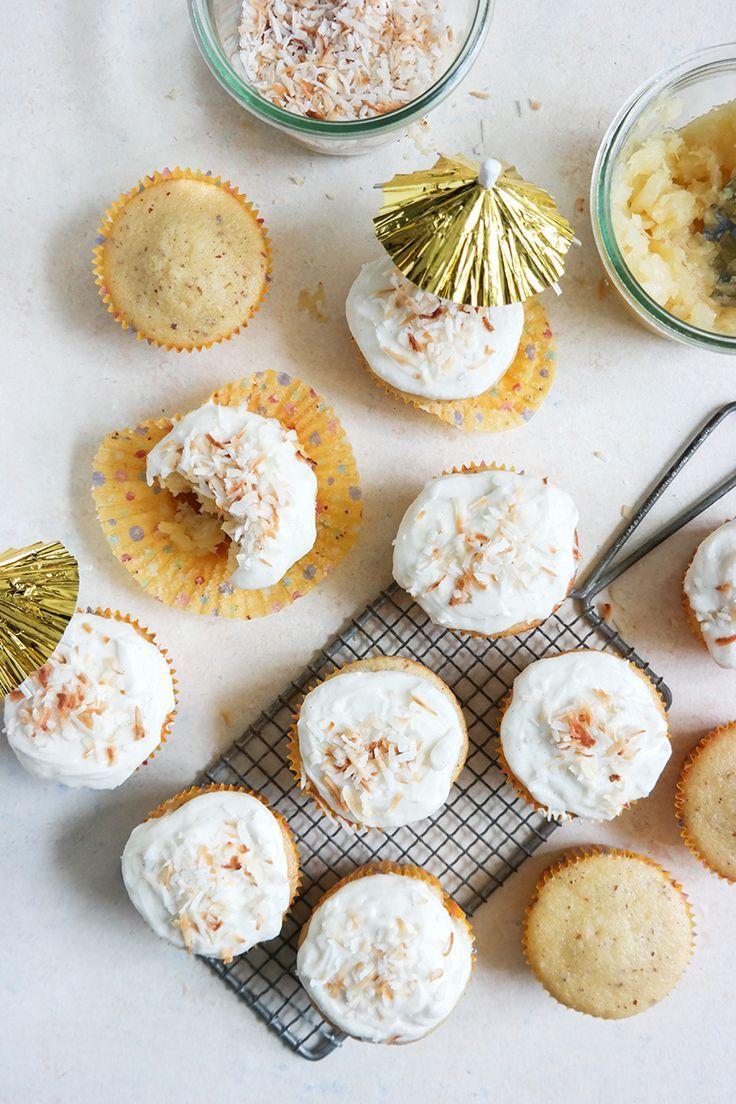 Pineapple Coconut Cupcakes