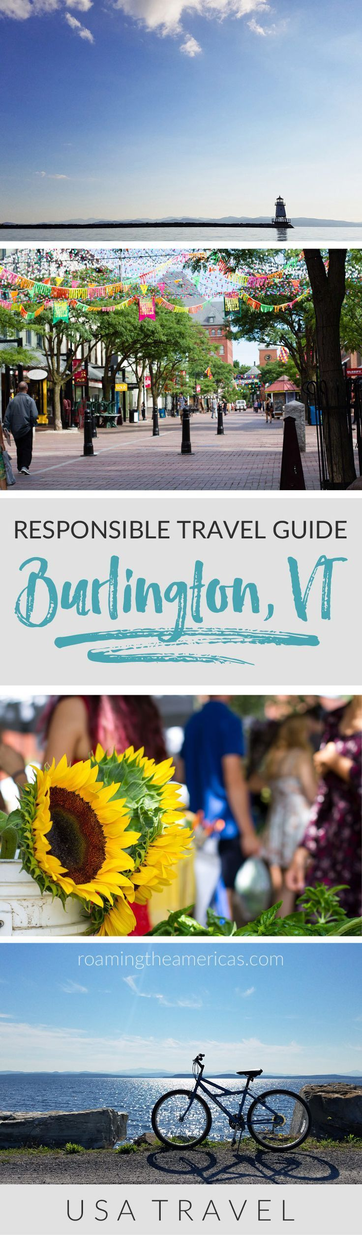 Vermont vacation   Vermont travel   Where to stay, eat, and things to do in Burlington, Vermont [USA]! Celebrate the Year of Sustainable Tourism with this responsible travel guide from @roamtheamericas #vermont #newengland #bucketlist #ecotourism via @roamtheamericas