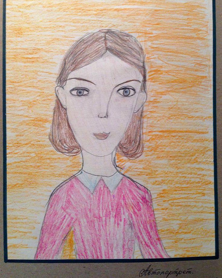 А это мой автопортрет, епта, мне тут 6 лет (или меньше, но детский сад стопроц)