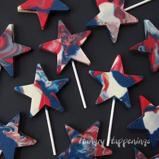 4th of july swirl cupcakes
