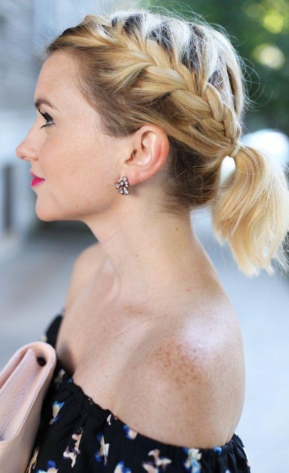 10 trenzas que puedes hacer en cabello corto