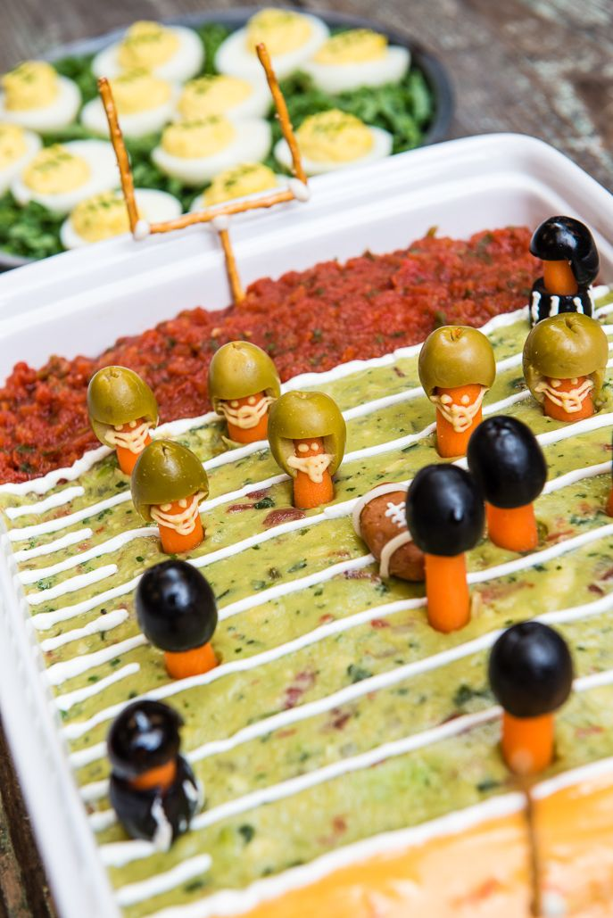 Big Game Football Field Party Dip from Everyday Good Thinking, the official blog of @HamitlonBeach (http://everydaygoodthinking.com)