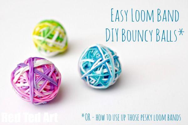 Rainbow Loom Band Craft Ideas - DIY Bouncy Balls