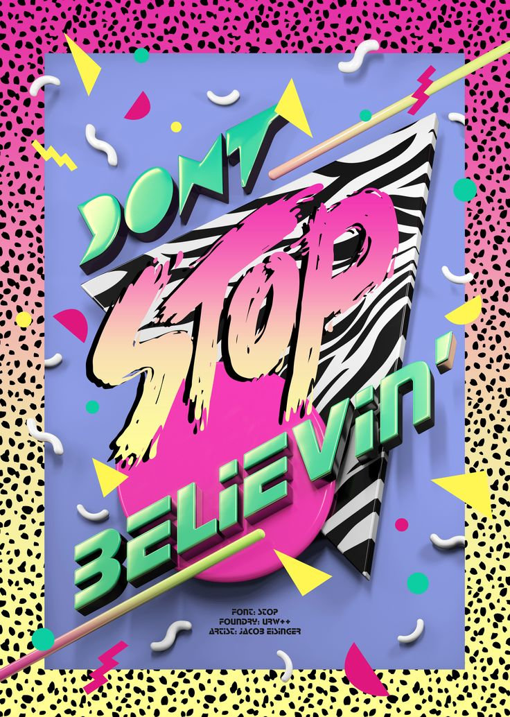 """""""Dont Stop Believin""""  Featuring Stop; From URW++; Art byJacob Eisinger"""