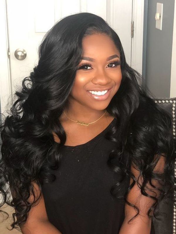 Body Wave Sew In With Frontal Closure Hairstyles For Black Girls Online Shop Best Virgin Hair Bundles Great Promotion And Body Wave Hair Hair Waves Hair Styles