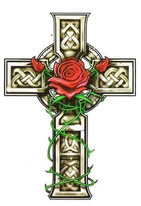 Celtic Cross- If I ever had a tatoo put on me this is exactly what I would imagine and right above my heart