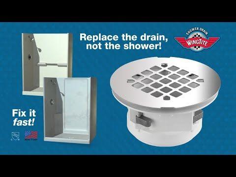 Wingtite Fix Leaking Shower Drain Youtube Shower Drain Shower Stall Shower