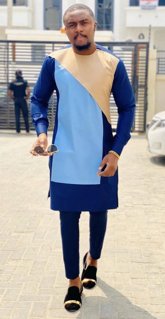 african men wedding suit,chemise et pantalon,mens prom dashiki suit,African clothing for men,african mens wear,african groom/'s suit,